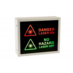 Illuminated Laser Warning Sign (2-Way)