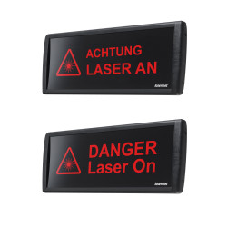 LED-Laserwarnleuchte/Laserwarnschild gross