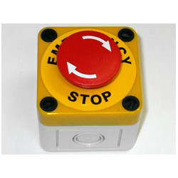 Push button switch, spring return, 1 n/o