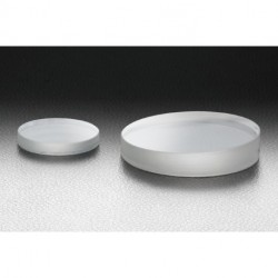 Synthetic fused silica, D: Ø50mm, t: 8 mm, S-D: 10-5, Uncoated, Lambda/10, Low scattering