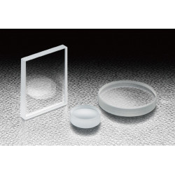 BK7, AxB: 10x10mm, t: 5 mm, S-D: 10-5, Uncoated, Lambda/20, Square