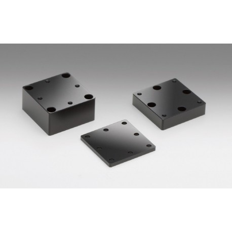 Aluminium Spacer, 40x40 mm, t: 10 mm, Mounting surface pattern B