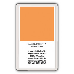 IR-Sensor card, 700 - 1400 nm, R, Orange