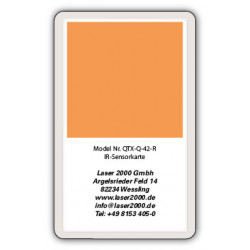 IR-Sensor card, 700 - 1600 nm, R, Orange