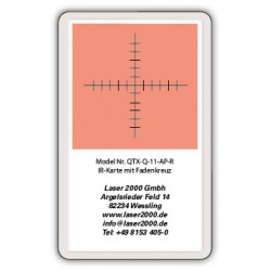 IR-Sensor card with crosshairs, 700 - 1400 nm, R, Orange
