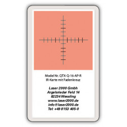 IR-Sensor card with crosshairs, 700 - 1400 nm, R, Blue-Green