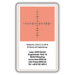 IR-Sensor card with crosshairs, 800 - 1700 nm, R, Red