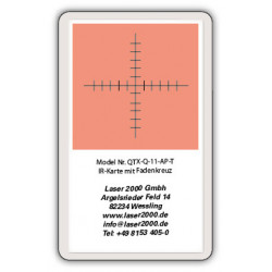 IR-Sensor card with crosshairs, 700 - 1400 nm, T, Orange