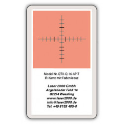 IR-Sensor card with crosshairs, 700 - 1400 nm, T, Blue-Green