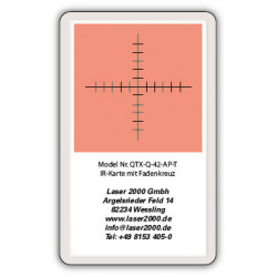 IR-Sensor card with crosshairs, 700 - 1600 nm,T, Orange